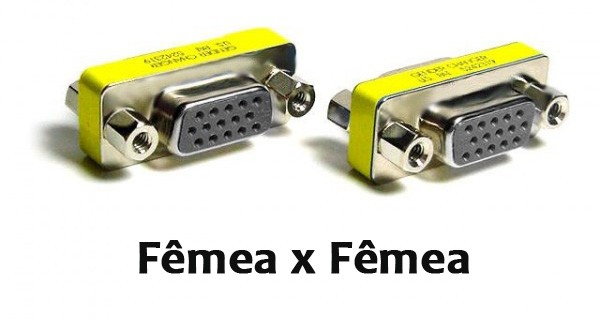 Emenda VGA Fêmea x Fêmea Mini Gender Changer 15 Pinos Empire