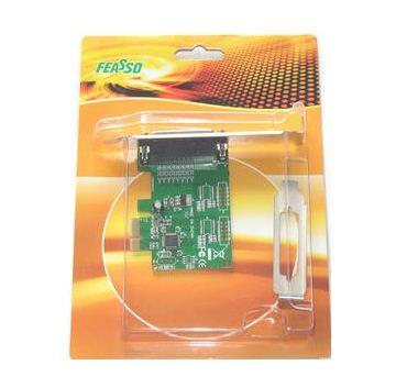 Placa PCI Express X1 para Paralela DB25 Com Perfil Baixo Feasso FPP-03