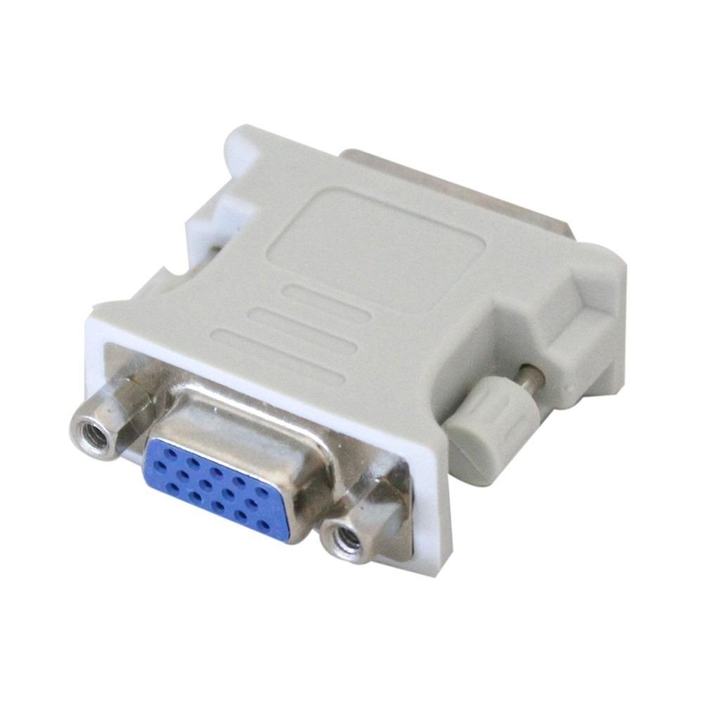 Adaptador DVI-I Dual Link 24+5 Pinos Macho Para VGA Fêmea