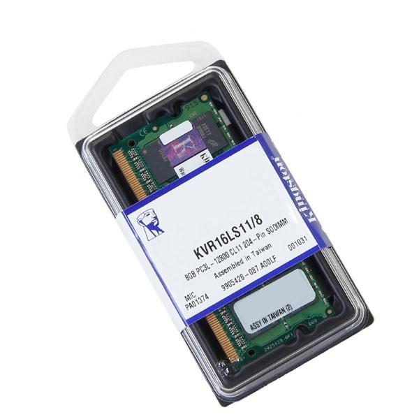 Memória 8GB Kingston DDR3L Low Voltage 1600Mhz Para Notebook KVR16LS11/8