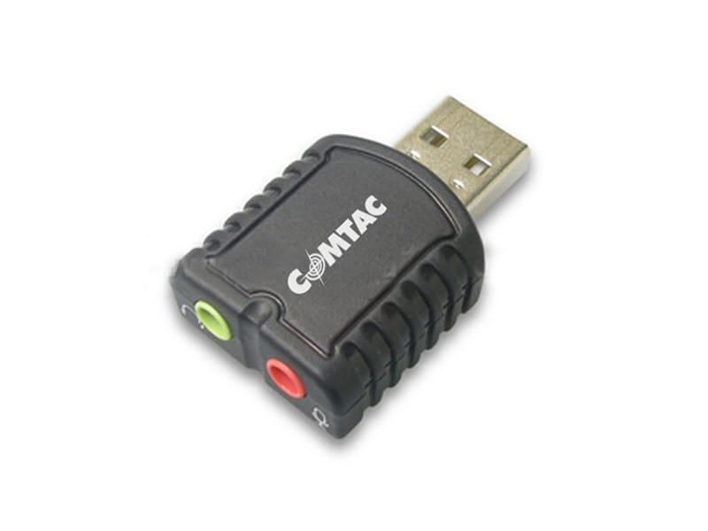 Placa de Som Adaptador USB 2.0 para Som Estéreo Comtac 9189