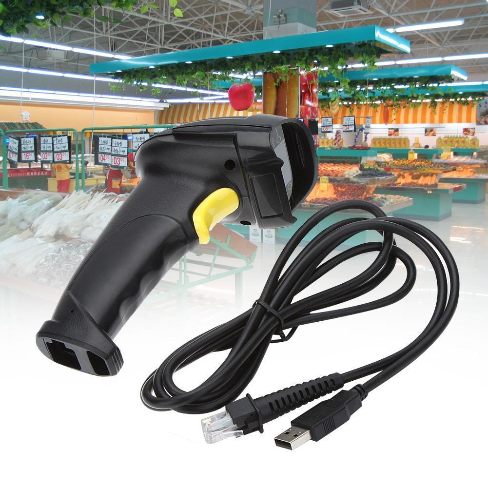 Leitor de Código de Barras Laser Com Fio USB C3 Tech LB-50BK Preto