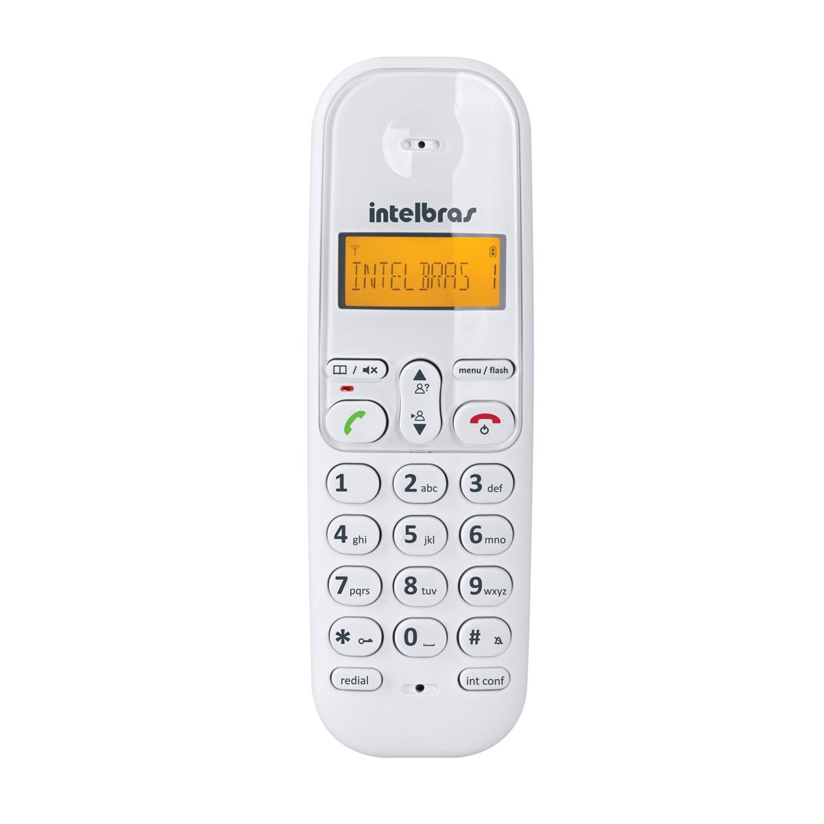 Telefone Sem Fio TS3110 Branco Intelbras Com Identificador de Chamadas