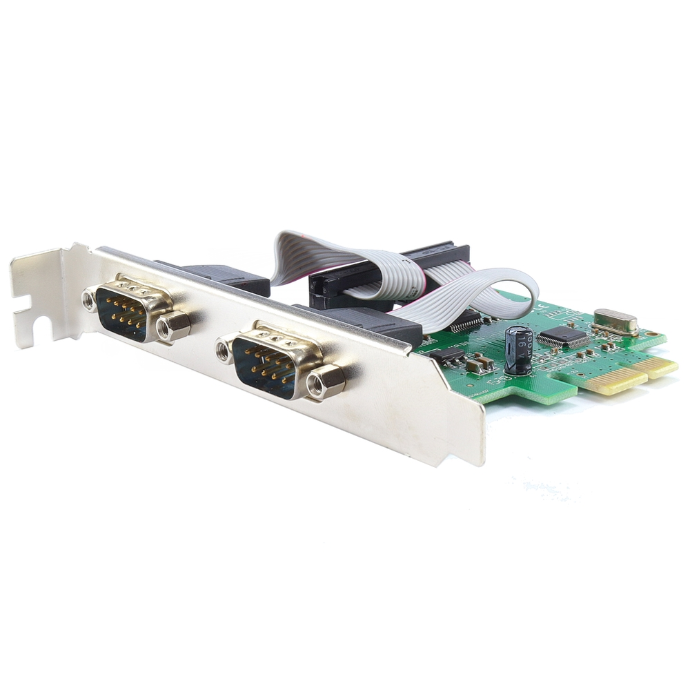 Placa PCI-e X1 2 Portas Seriais RS232 JPSS-02 Feasso com Low Profile