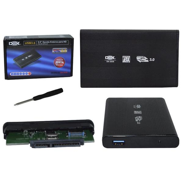 Case Gaveta para HD 2,5 Sata de Notebook USB 3.0 DX-2530 DEX