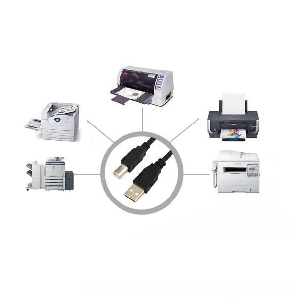 Cabo Para Impressora USB 2.0 A x USB B 3 metros Com Filtro Exbom CBX-U2AMBM30