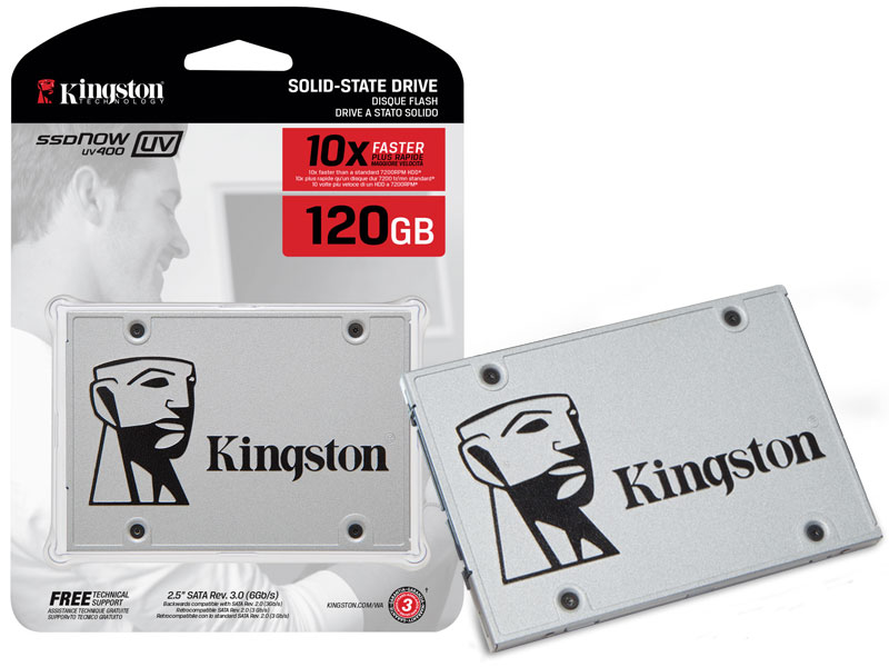 SSD 120GB Sata 3 Kingston SSDNOW UV400 10x mais Rápido SUV400S37/120G