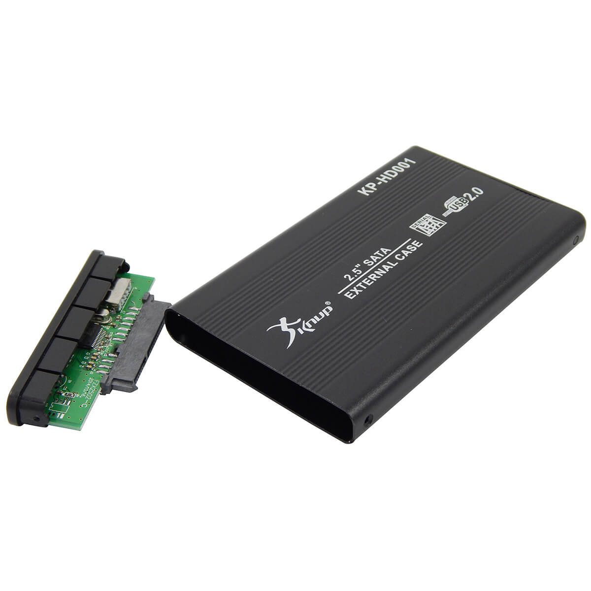 Case Gaveta Externa para HD Sata 2.5 USB 2.0 Knup KP-HD001 Preto