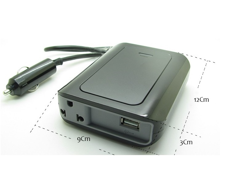 Inversor Veicular 200 Watts 12v Para 220v C/ Saída USB