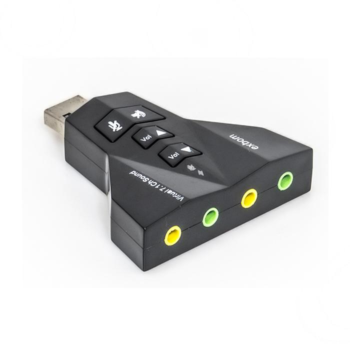 Adaptador de som USB 2.0 Externo 7.1 Canais USON-20 Exbom