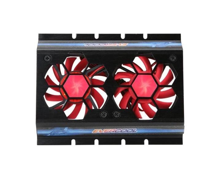 Cooler para HD Vermelho Duplo HD-F117 Evercool em Alumínio