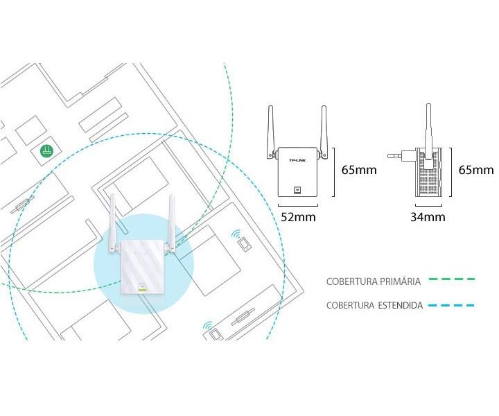 Repetidor De Sinal Wi-Fi 300Mbps TL-WA855RE TP-Link com 2 Antenas