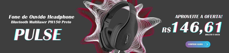 Fone de Ouvido Bluetooth Multilaser Pulse PH150