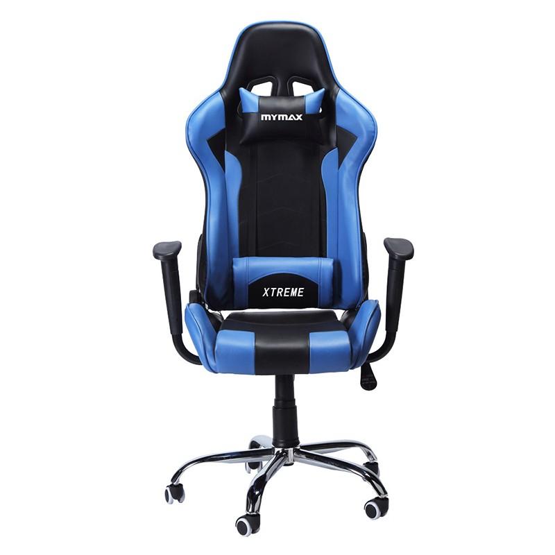 Cadeira Mymax Gamer Extreme MX7 Giratória Preto com Azul MGCH-002/BL