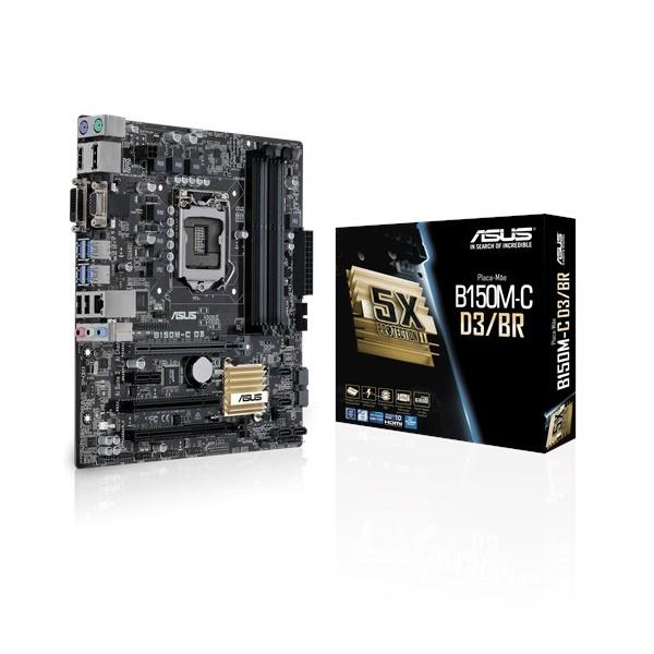 Placa Mãe Asus B150M-C-D3/BR DDR3 LGA Socket 1151 DP VGA HDMI DVI