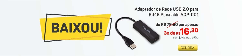 Conversor USB para RJ45 Plus Cable