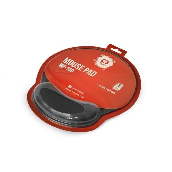 Mouse Pad Com Apoio de Punho em Gel C3Tech MP-100