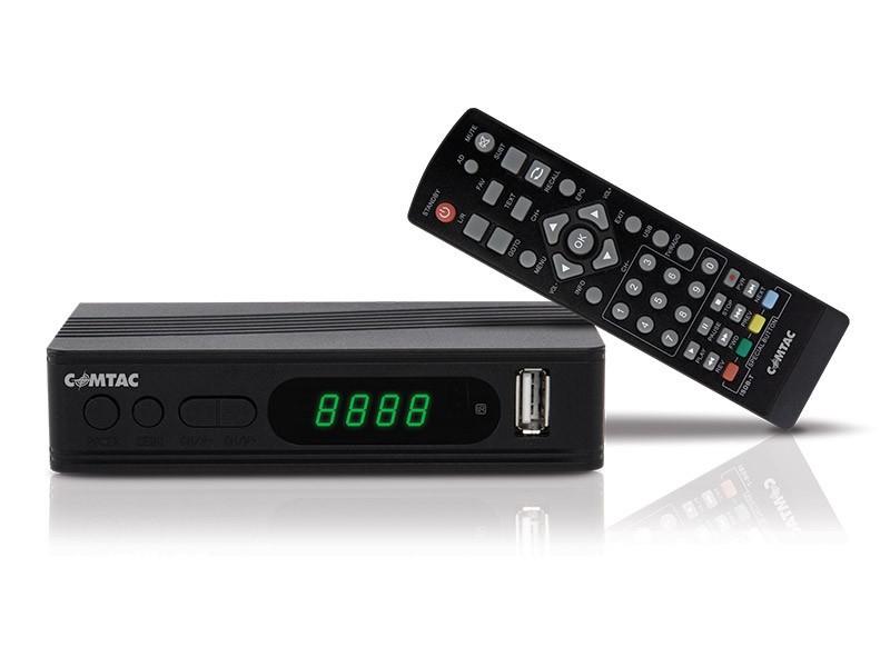 Conversor de Sinal Digital de TV Comtac 9347 com USB e Sistema de Gravação
