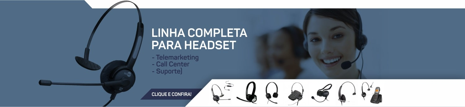 Telefones Headset para Call Center Suporte Telemarketing
