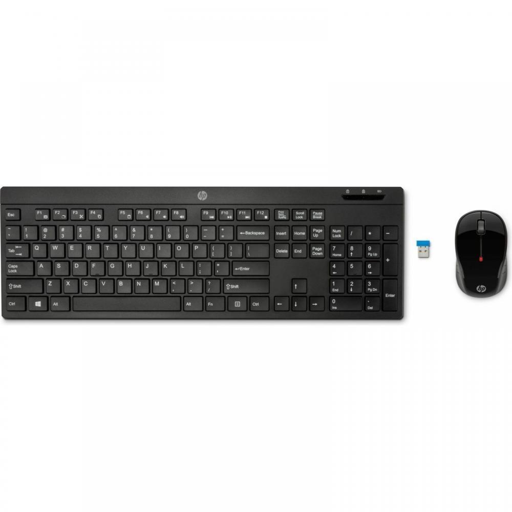 Kit Teclado e Mouse Sem Fio Wireless HP C200 ABNT2
