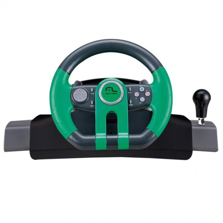Volante 2 em 1 Xbox One e PC com Marcha Acoplada Dual Shock JS077 Multilaser