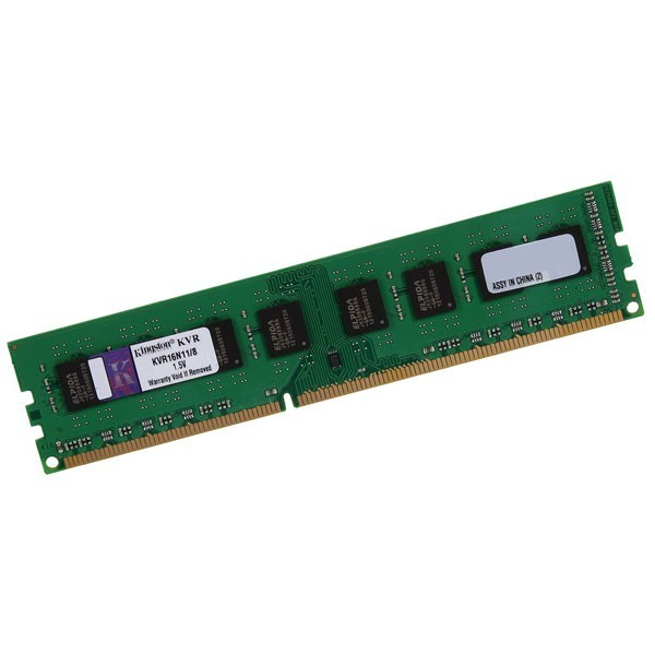 Memória Para Desktop 8GB 1600Mhz DDR3 PC3-12800 Kingston KVR16N11/8