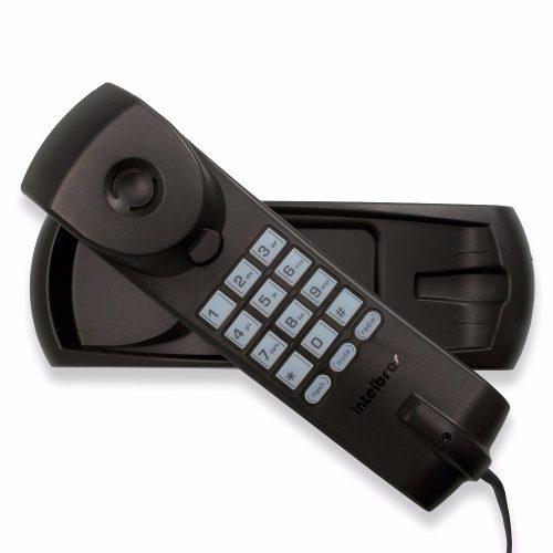 Telefone com Fio Fixo De Parede e Mesa Intelbras TC20 Preto