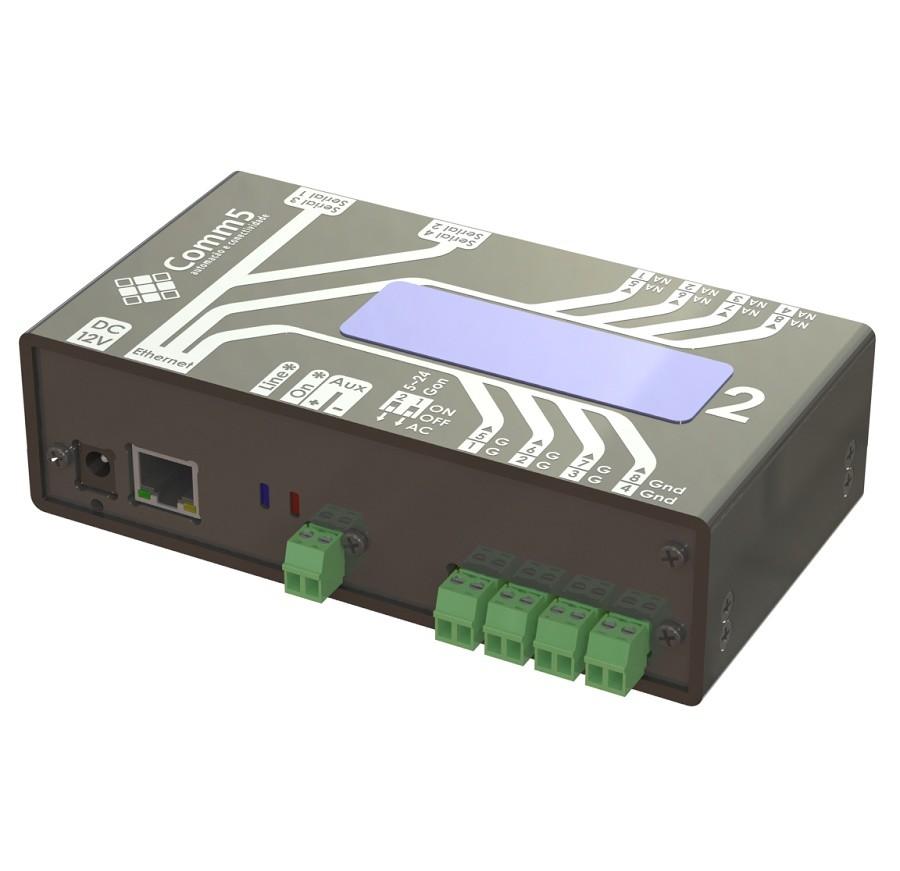 Módulo de Acionamento via Rede 10/100 C/ 4 Saídas, 4 Entradas, 4 Portas Seriais e Display Acoplado Comm5 MA-2004-2