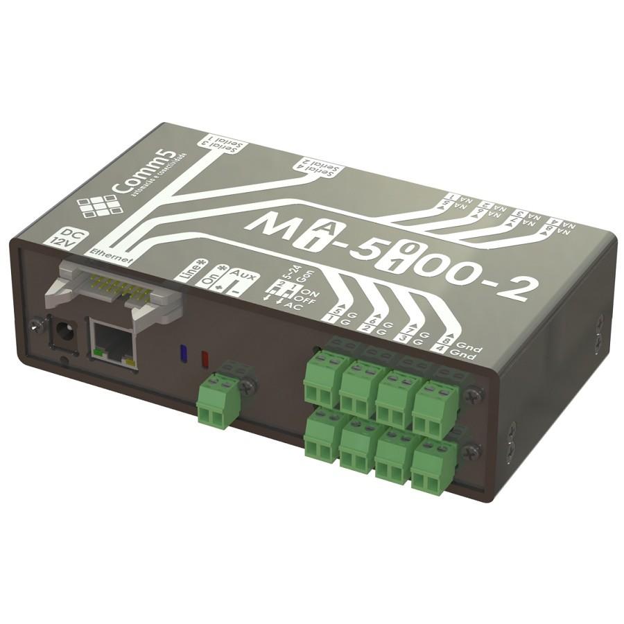 Módulo de Acionamento via Rede 10/100 C/ 8 Saídas e 8 Entradas, 2 Portas Seriais e 1 Saída Para Display Externo Comm5 MA-2110-2