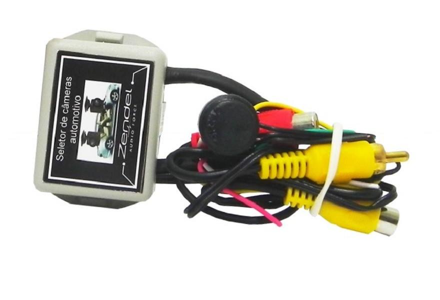 Interface Seletor de Câmera de Ré e Frontal (Dianteira) Automotiva Universal Zendel