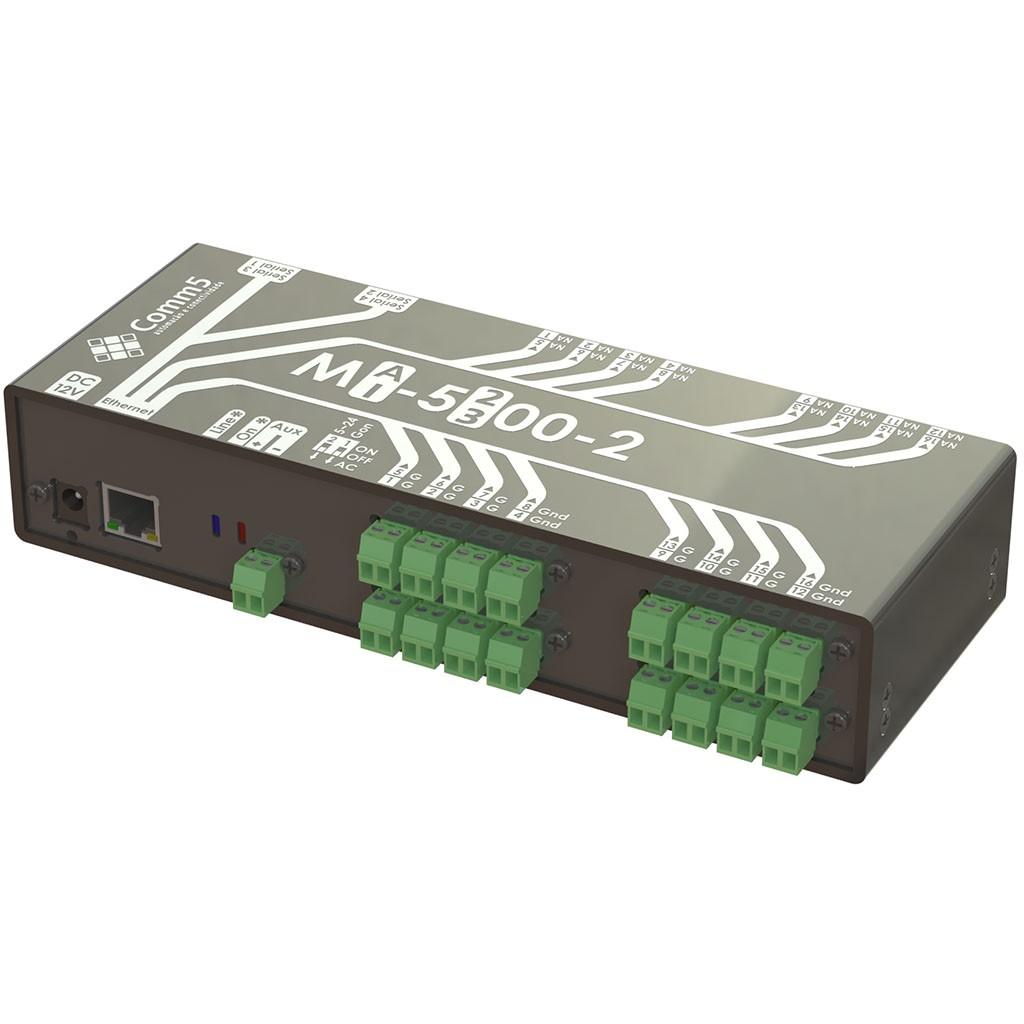 Módulo de Acionamento via rede 10/100 com 16 saídas e 16 entradas e 2 Seriais Comm5 MA-5300-2