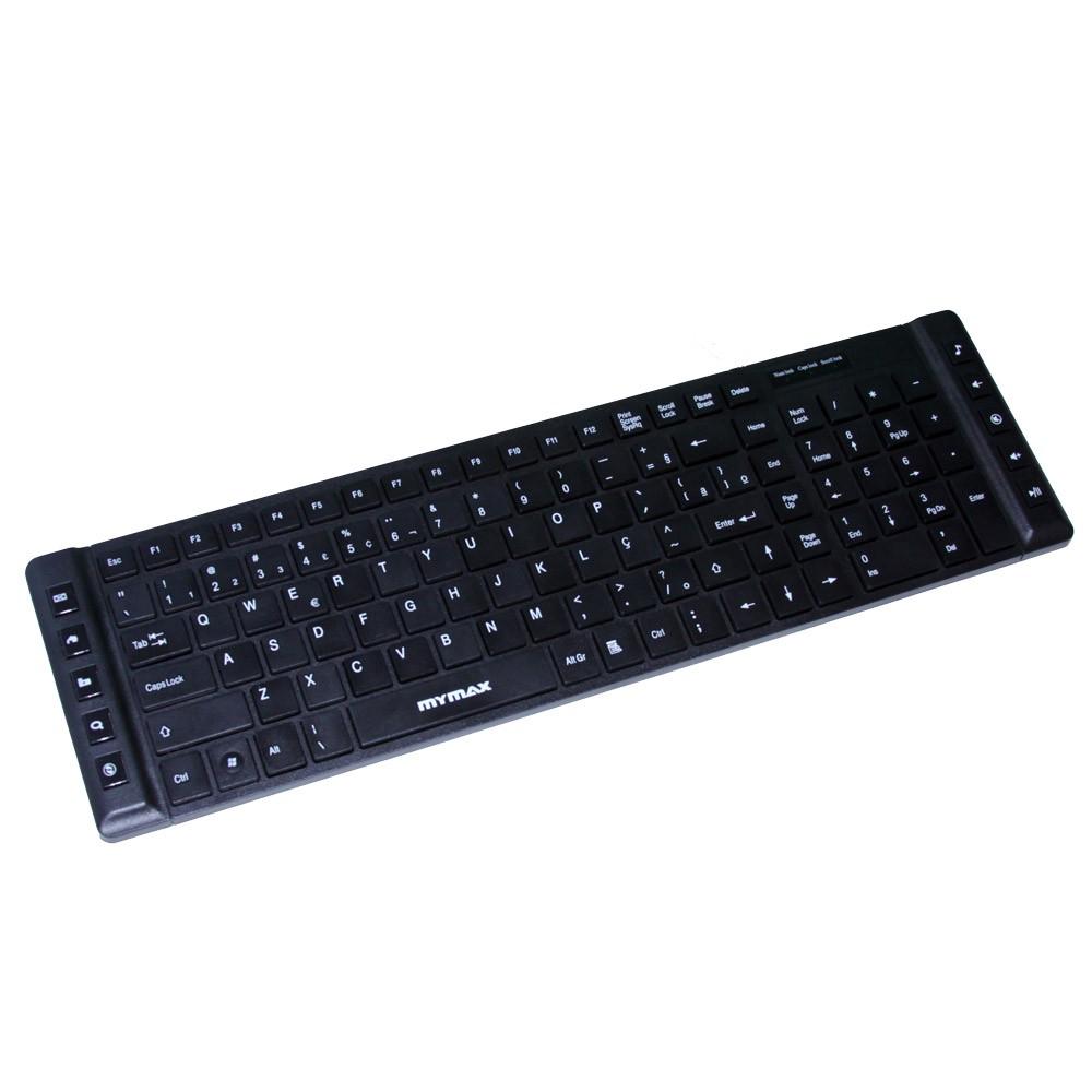 Teclado Multimídia Slim Chocolate USB ABNT II Preto Mymax MKM-MKB699