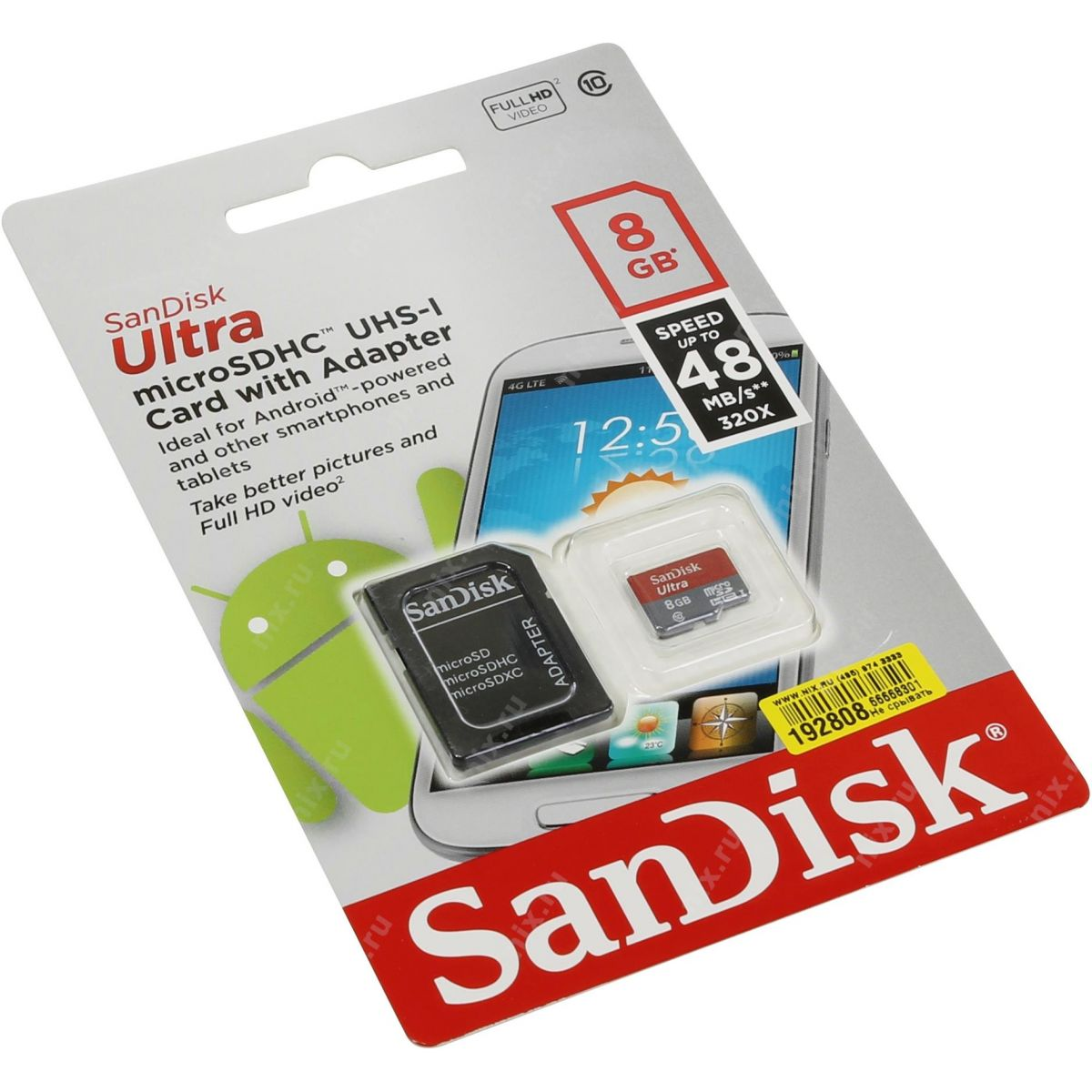 Cartão De Memória Micro Sd 8gb Sandisk Ultra Sdhc Classe 10 48mbs