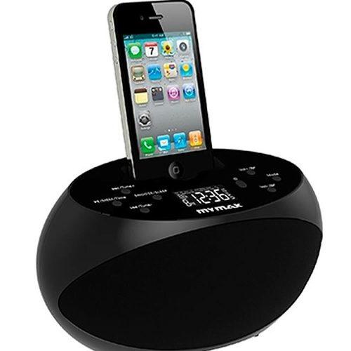 Dock Station para Iphone 4 4S e Ipod com Alarme e Rádio FM