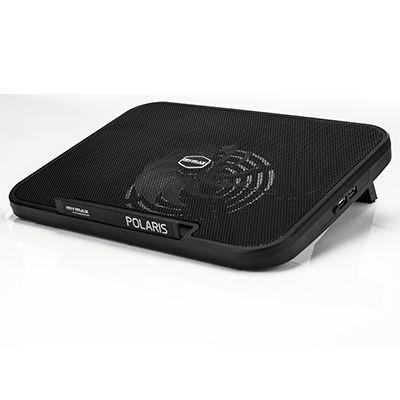 Base Notebook 15,6 com Cooler 130mm  Hub Usb e Led Azul Mymax Polaris