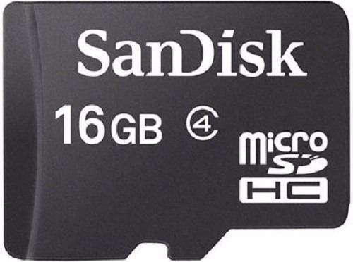 Cartão de Memória Micro Sd 16gb Sandisk Classe 4 c/ Adaptador SD