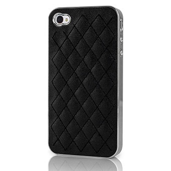 Case Capinha para Iphone 4 e 4s Preto com detalhe Prata Mymax
