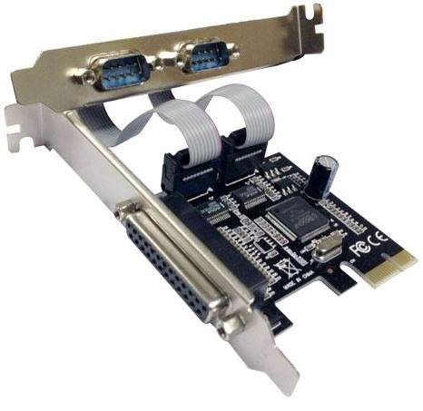 Placa Pci-e Express 2 Portas Serial RS232 e 1 Paralela Encore  ENEPC-2S1P