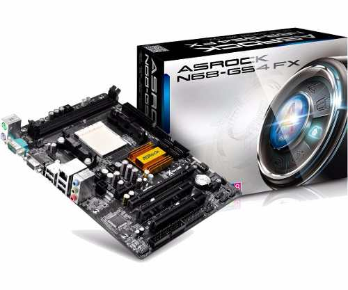 Placa Mãe Amd Asrock N68-GS4 FX Socket Am3 Am3+ Ddr3 1866mhz