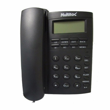 Telefone Multitoc C/fio Chave Bloqueio, Viva Voz, Bina e Despertador Office ID