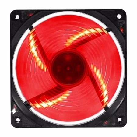 Cooler 120mm 12cm Com Led Vermelho G-fire para Gabinete E Fonte