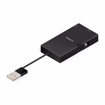 Combo Leitor De Cartões com Hub Usb 3 Portas e Carregador Micro Usb Comtac Slim Plus 9264