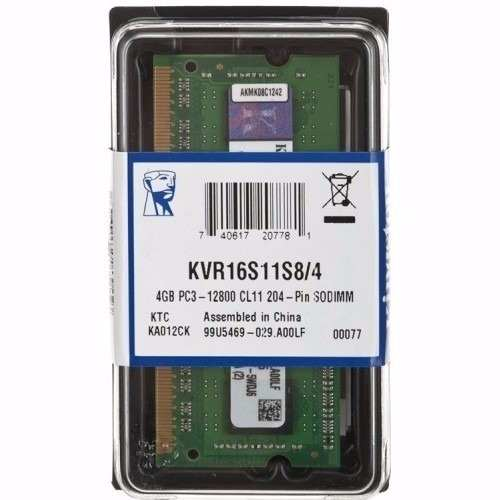 Memória 4gb Ddr3 Kingston 1600mhz Notebook Pc3 12800 Kvr16s11/4