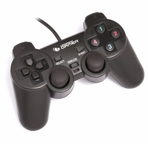 Kit 2 Controles Joystick P/ Pc Usb Analógico Com Vibração
