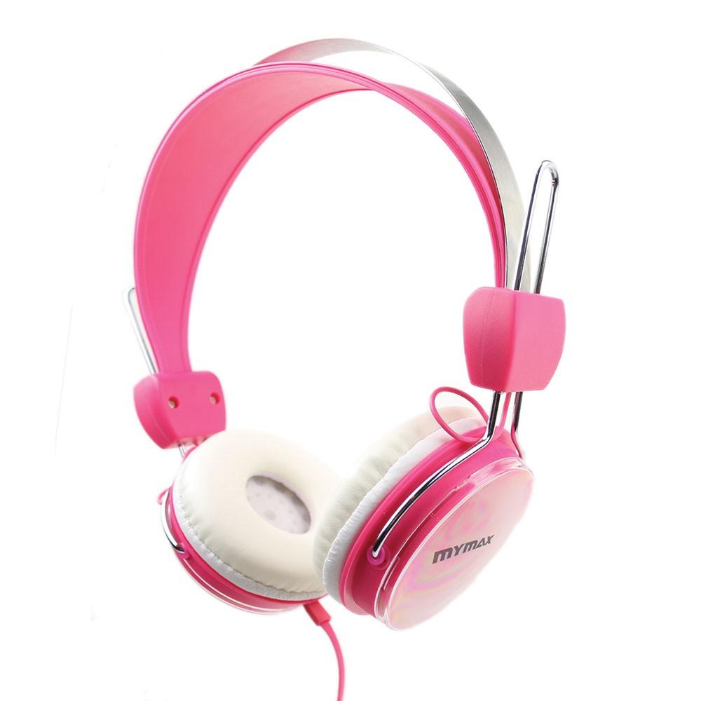 Fone De Ouvido Rosa P2 Confortável 40mm E Potência 100mw Mymax