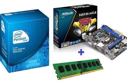 Placa Mae + Processador Dual Core 2.60ghz + 4gb Memoria Ddr3
