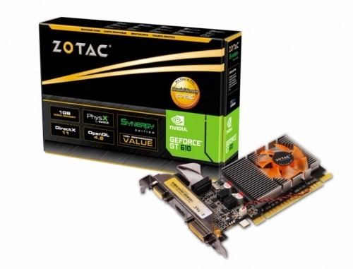 Placa de Vídeo  ZOTAC Geforce GT 610 Synergy Edition 1GB DDR3 - ZT-60602-10L