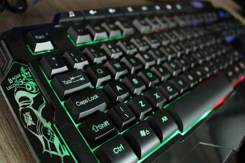 Teclado Usb Gaming League Of Legends Com Led Profissional DEX