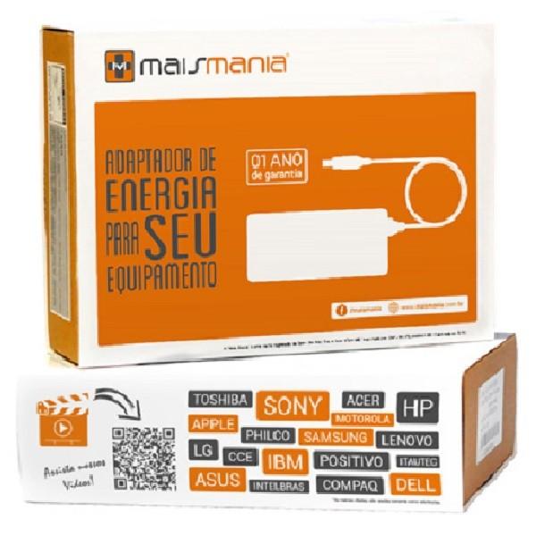 Fonte Carregador Para Dell 19,5v 4.62a 90w Plug 7,4mm x 5,0mm Pa-10 Mais Mania