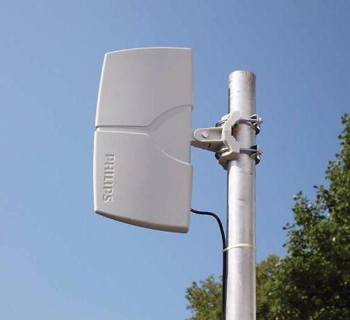 Antena Tv Amplificada 22db Philips Sdv8625t HDTV UHF VHF